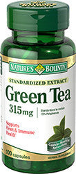 Nature's Bounty Green Tea Extract 315mg, 100 capsules