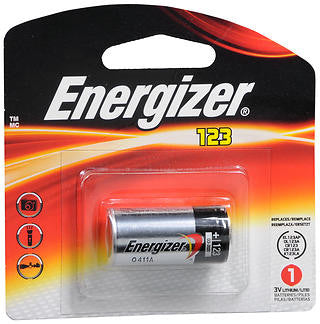 Energizer Advanced Photo Lithium Battery,  CR123, 1 batteries