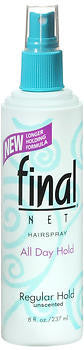 Final Net Hairspray Non-Aerosol Regular Hold Unscented, 8oz