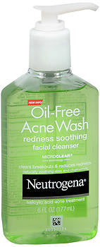 Neutrogena Oil-Free Acne Wash, Redness Soothing Gel Cleanser, 6 oz