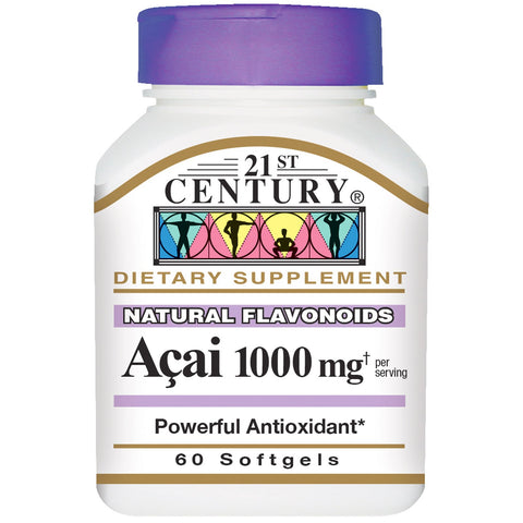 21st Century Acai Berry Extract, 1000mg