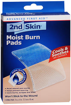 2nd Skin Moist Burn Pads, 3 in X 4 in, 3 pads