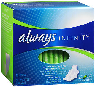 Always Infinity Pads, Super, 12 Units 16 pad (192 total)
