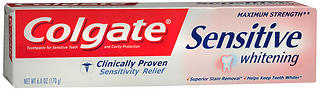 Colgate Toothpaste,  Cavity Protection plus Whitening, Maximum Strength, Fresh Stripe, 6 oz