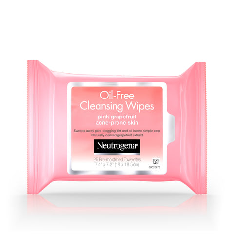 Neutrogena Pink Grapefruit Wipes, 25 ct