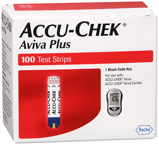 Accu-Chek Aviva Plus Test Strips, 100ct