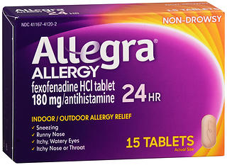 Allegra 24 Hour Allergy, 15 caps