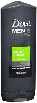 Dove Men+Care Extra Fresh Body and Face Wash, 13.5 oz