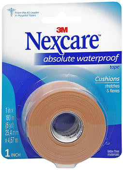 3M Products Waterproof Tape w/ Dispenser,  1inch x180 inch Flexible, 1 ea