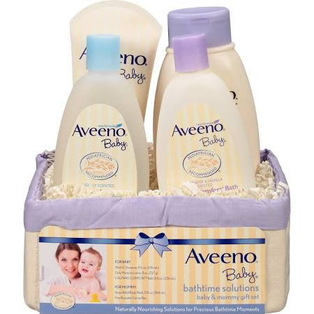Aveeno Baby Bathtime Solutions Baby & Mommy Gift Set