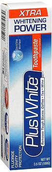 Plus White Every Day Whitening Toothpaste, with Tartar Control, Cool Mint, 3.5 oz
