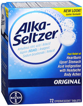 Alka-Seltzer Effervescent Tablets Original, 72ct