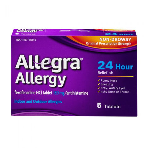 Allegra 24 Hour Allergy, 5 tablets