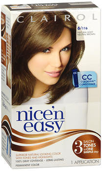 Clairol Nice'n Easy  Natural Light Neutral Brown No. 116