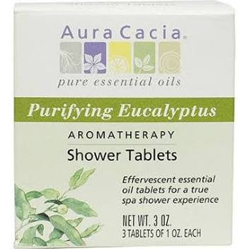 Aura Cacia Purifying Eucalyptus Shower Tablets 3 oz
