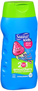 Suave for Kids 2-in-1 Shampoo, Strawberry Swirl, 12 oz