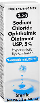 Akorn Sodium Chloride 5% Ophthalmic Ointment, 3.5 gram