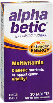 Alpha Betic Multivitamin Plus Extended Energy Tablets, 30 tabs