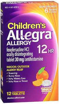 Children's Allegra, 12 tablets