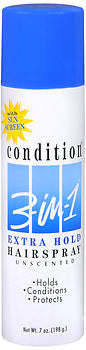 Condition 3-In-1 Hairspray Aerosol Extra Hold Unscented