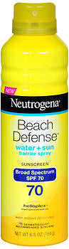 Neutrogena Beach Defense Sunscreen Spray SPF 70, 6.5oz