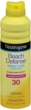 Neutrogena Beach Defense Sunscreen Spray SPF 30, 6.5oz