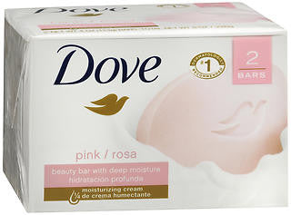 Dove Beauty Bar, Pink, 2 Units 4.25 oz