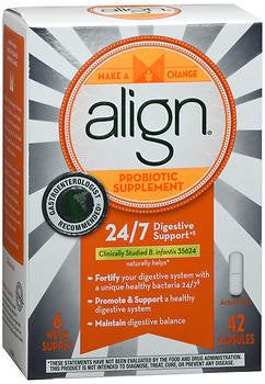 Align Digestive Care Probiotic Supplement, 42 capsules