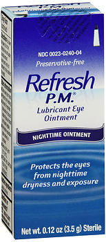 Refresh PM Lubricant Eye Ointment, Preservative Free, 3.5gm