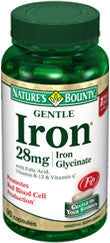 Nature's Bounty Gentle Iron 28 mg, 90 capsules