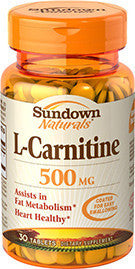 Sundown L-Carnitine 500 mg, 30 tablets