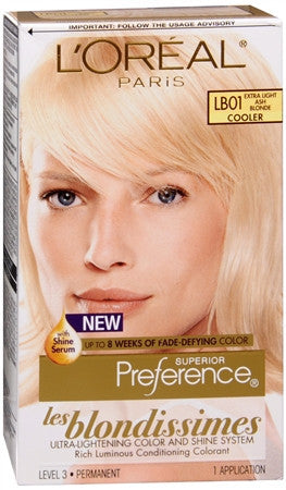 L'Oreal Preference   Extra Light Ash Blonde  LB01