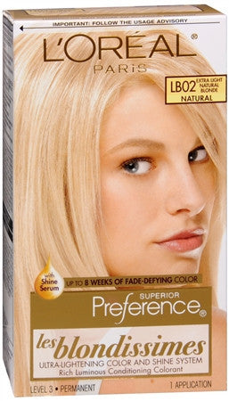 L'Oreal Preference   Extra Light Natural Blonde LB02