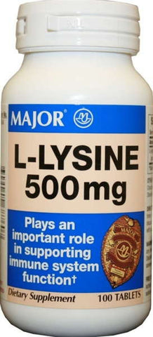 Major Pharm L-Lysine,  500 mg- 100 tab