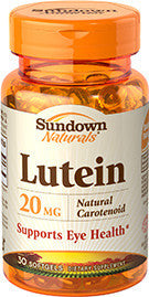 Sundown Lutein 20 mg, 30 softgels