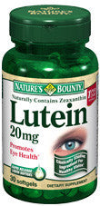 Nature's Bounty Lutein 20 mg, 30 softgels