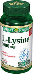 Nature's Bounty L-Lysine 1000 mg, 60 tablets