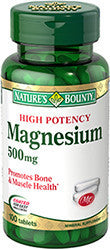 Nature's Bounty High Potency Magnesium 500 mg, 100 tablets