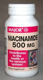Major Pharm Niacinamide,  500 mg- 100 tab