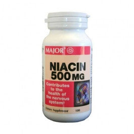 Major Pharm Niacin Time Release,  500 mg, 100 caps