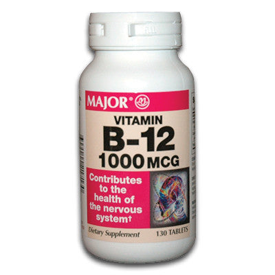 Major Pharm Vit B-12,  1000 mcg- 130 tab