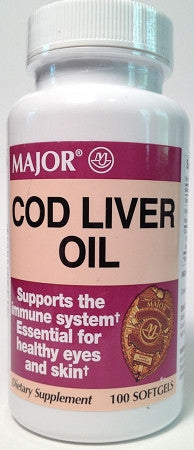 Major Pharm Cod Liver Oil, 100 caps