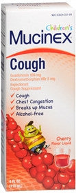 Mucinex Children's Cough Liquid, Cherry, 4oz