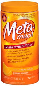 Metamucil MultiHealth Fiber, Orange, 72 doses