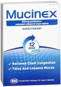 Mucinex Extended Release Expectorant, 500 tablets