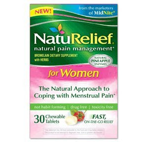 NatuRelief Natural Pain Management,  Women, 30 chewables