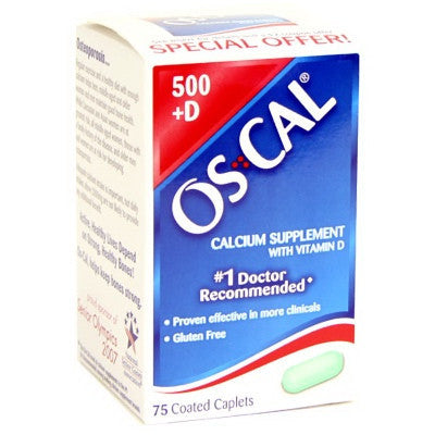 Oscal 500 Plus Vitamin D Tablets For Strong Bones, 75 caplets