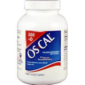 Oscal 500 Plus Vitamin D Tablets For Strong Bones, 160 caplets