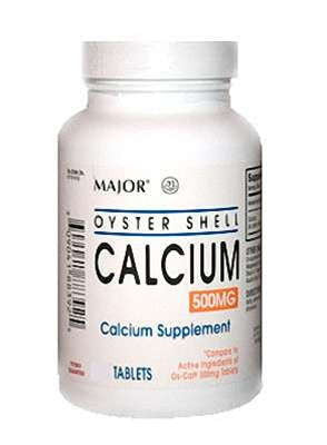 Major Pharm Oyster Shell Calcium,  500 mg- 1000 tab