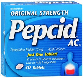 Pepcid AC Acid Reducer, Original Strength, 30 tablets